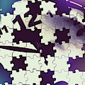Clock Holes And Puzzle Pieces by Jorgo Photography - Wall Art Gallery