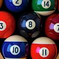 Close Up Billiard Balls by Garry Gay