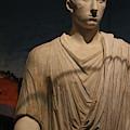 Closeup Of Marble Statue Of Man Pompeii Exhibit 2 by Colleen Cornelius