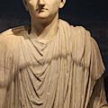 Closeup Of Marble Statue Of Man Pompeii Exhibit by Colleen Cornelius