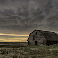 Clouds And Barn by Laura Hedien