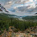 Cloudy Morning In The Canadian Rockies by James Udall