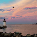 Coast Guard Rescue Over Winter Island by Jeff Folger