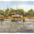 Coastal Boatyard by Barry Jones