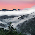 Coastal Range Sunrise Panoramic by Leland D Howard