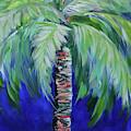 Cobalt Palencia Palm II by Kristen Abrahamson