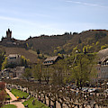 Cochem Castle And Town On Mosel In Germany by Victor Lord Denovan