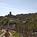 Cochem Main Street And Castle In Springtime In Germany by Victor Lord Denovan