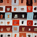 Coffee Cups And Cakes by Mary Stubberfield
