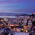 Coit Tower And North Beach At Dusk by Photo By Brandon Doran