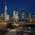 Colgate Clock And Nyc Skyline Twilight by Susan Candelario