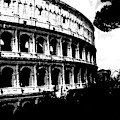 Coliseum, Black And White  by Chance Kafka