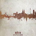 Cologne Germany Rust Skyline by Michael Tompsett
