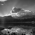 Colorado Mountain Lake In Black And White by Tony Hake