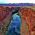 Colorado River From The Navajo Bridge 001 by George Bostian