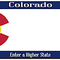 Colorado State License Plate by Bigalbaloo Stock