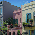 Colored Architecture - Rainbow Row by Dale Powell