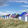 Colorful Beach Cabins by Arterra Picture Library