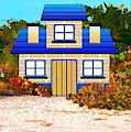 Colorful Beach Cottage by Rosalie Scanlon