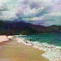 Colorful Beach by Karen Nicholson