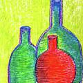 Colorful Bottles by Asha Sudhaker Shenoy