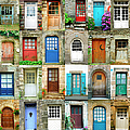 Colorful Doors In French Region Of by Maica