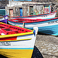 Colorful Fishing Boats, Cape Verde by Lyl Dil Creations