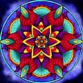 Colorful Flower Mandala by Becky Herrera