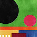 Colorful Geometric Abstract 4- Art By Linda Woods by Linda Woods