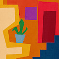 Colorful Geometric House 1- Art By Linda Woods by Linda Woods