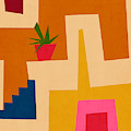 Colorful Geometric House 2- Art By Linda Woods by Linda Woods