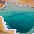 Colorful Geyser In Yellowstone National by Csnafzger