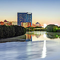 Colorful Indianapolis Skyline Panorama Over The White River by Gregory Ballos