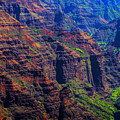 Colorful Mountains Of Kauai by Max Huber