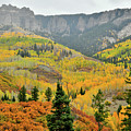 Colorful Mountainsides Along Owl Creek Pass Road by Ray Mathis