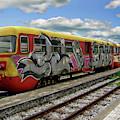 Colorful Passenger Train by Anthony Dezenzio