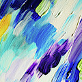 Colorful Rain Fragment 1. Abstract Painting by Jenny Rainbow