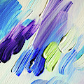 Colorful Rain Fragment 2. Abstract Painting by Jenny Rainbow