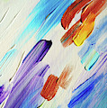 Colorful Rain Fragment 3. Abstract Painting by Jenny Rainbow