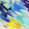Colorful Rain Fragment 5. Abstract Painting by Jenny Rainbow