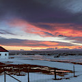 Colorful Sunset Iceland by Joan Carroll