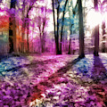 Colorful Trees Xii by Tina Baxter