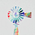 Colorful Windmill by Andrea Anderegg