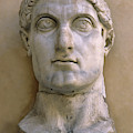 Colossal Head Of Constantine The Great by Roman School