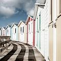 Colourful Bude Beach Huts II by Helen Northcott