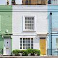 Colourful London Houses by Tim Gainey