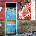 Colorful Wall With Blue Door by Lyl Dil Creations