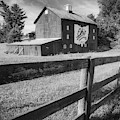 Columbus Ohio Bicentennial Barn And Fence - Monochrome 1x1 by Gregory Ballos