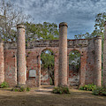 Columns Of Time - Old Sheldon Church Ruins by Dale Powell