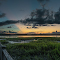 Community Dock Sunset - Wando River by Dale Powell